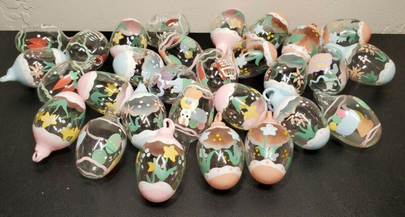 Set of 29 Handpainted Miniature Egg Ornaments
