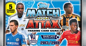 Topps Match Attax 2013-14 Trading Cards 10 Packs 5 Cards Pack EPL Premier League
