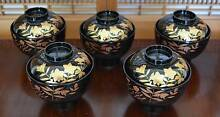 Japanese not Chinese NEW 5 Bowl Set Owan Lidded Soup Rice Omisosh Cleveland Redland Area Preview