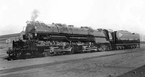 Western Maryland photo 1201 4-6-6-4 Challenge Steam Locomotive Railroad Train