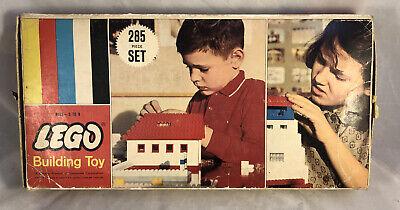 Vintage 60's LEGO #285 Medium Basic Set Patent Pending Bricks Not Complete