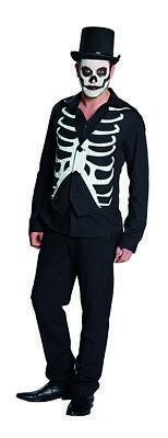 Weste Skelett Rippenweste Skelettweste Halloween Kostüm für (Skelett Kostüm Für Herren)