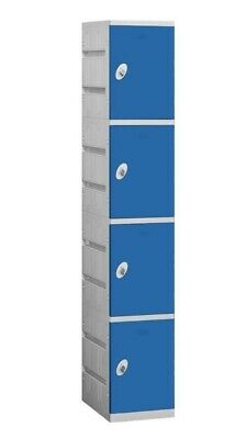 Salisbury Industries Four Tier Plastic Locker Blue 94000 Series- Unassembled