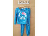 New Wonen Tracksuit Blue Hello Kitty Size 10 Uk