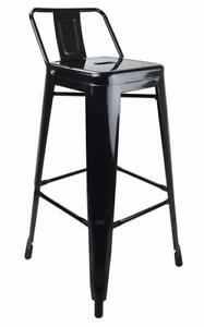 RESTAURANT LOW BACK TOLIX STYLE METAL BAR STOOL