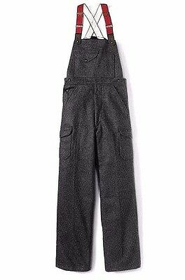 UNUSED New C.C. Filson Bib Overalls Mackinaw Gray Wool Men's Size 38 Made in USA