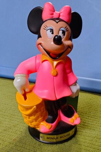 Vintage Plastic MINNIE MOUSE Walt Disney Figure Bank Moving Arm ~ Animal Toys