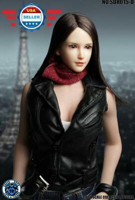 "SUPERDUCK SDH011A 1//6 female head short hair FOR Phicen 12/"" figure hot toys❶USA❶"