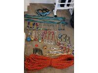 Rock climbing trad rack