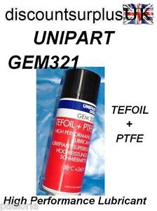 UNIPART-GEM321-TEFOIL-PTFE-High-Performance-Lubricant-400ml-Can-RR27