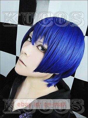 Uta no prince-sama Masato Hijirikawa Short Blue cosplay wig + free wig cap - Uta Caps