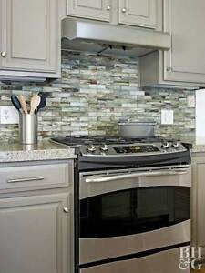 Kitchen and Bathroom Tile and Backsplash Tile Installations