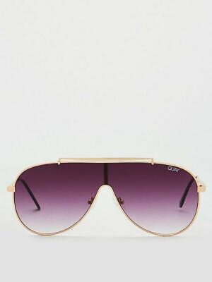 QUAY AUSTRALIA El Dinero Pilot Sunglasses - Gold/Purple #QUAYXJLO (Sunglasses Collection Quay)