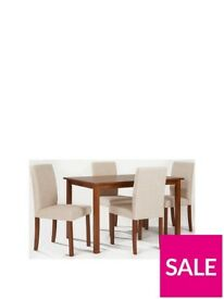 Primo 120 cm Dining Table + 4 Fabric chairs