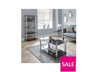 Darcy Glass and Chrome Coffee Table
