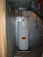 hot water tanks $250 flat installation fee