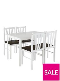 Martino 111cm Dining Table + 4 Chairs
