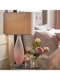 Michelle Keegan Pink Ombre Glass Lamp