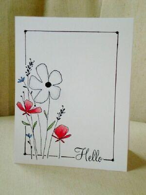 Hello Flowers Cards handmade, Creative cards, Simple cards
