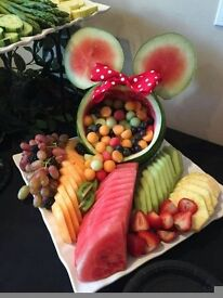 Fruit and sweetie buffets
