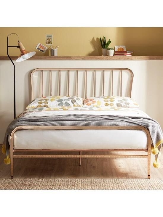 Ideal Home Webster Metal Double Bed Frame Copper Very Cost 449 Rose