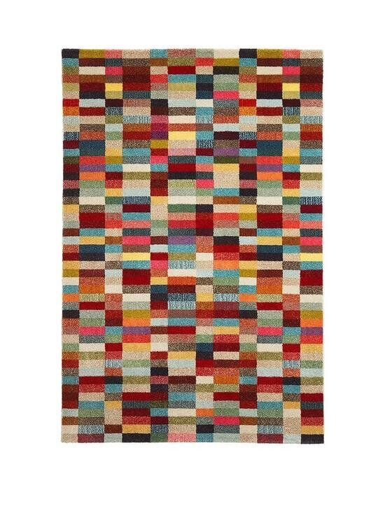 Large Brick Style Rug Nearly New Multi Coloured Ing On Very Catalogue