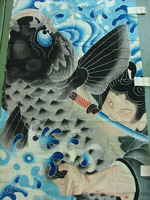 Noboribata•Nobori Boys Day Banner•Kite•Boy fighting Giant Carp•early 20thC