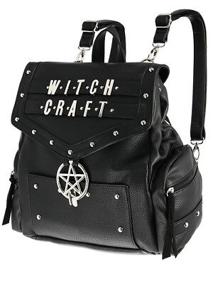Restyle Witchcraft Pentagram Gothic Punk Faux Leather School Book Bag Backpack for sale  Staten Island