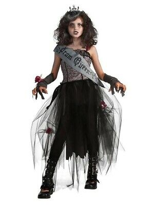1 Year Old Girl Costumes (Girls Goth Prom Queen Halloween Costume XL / 10-12 years old - RRP £)