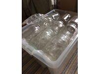 18 glass Kilner jars