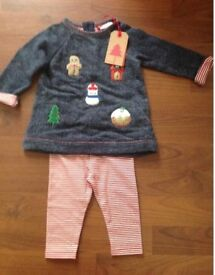 BABY GIRLS CHRISTMAS CLOTHES BNWT