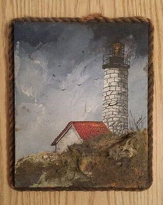 Folk Art Marine Painting ofPemaquid Lighthouse; USLHS
