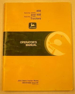 John Deere 8500950 Tractor Operators Manual Omr72588 B1
