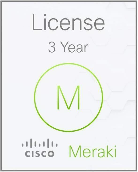 Cisco Meraki MX68 3 Year Advanced Security License and Support LIC-MX68-SEC-3YR