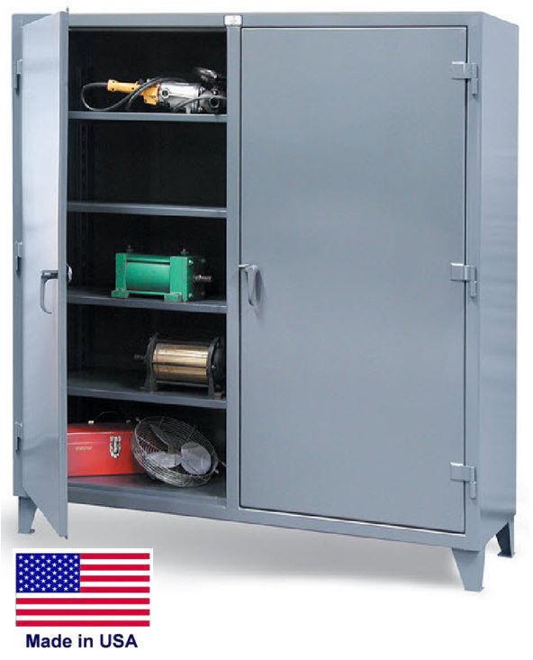 Storage Cabinet Commercial/indl - 12 Gauge Steel - 6 Shelves - Gray - 66x48x24