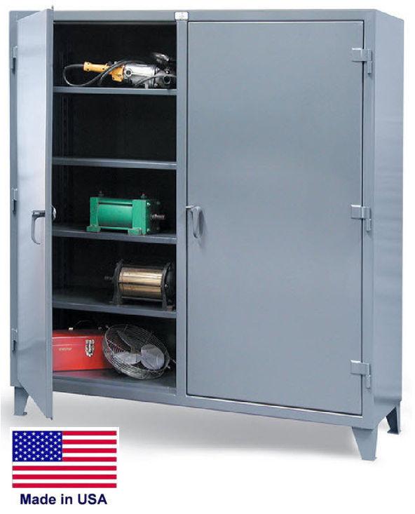 Storage Cabinet Commercial/indl - 12 Gauge Steel - 8 Shelf - Gray - 78x60x24  Sh