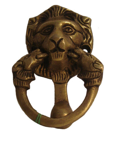 ANTIQUE Style Brass DOOR KNOCKER - LION Style - Fully Brass - RARE(931)