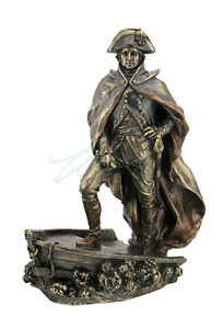 George Washington Crossing The Delaware President Statue Sculpture Figurine