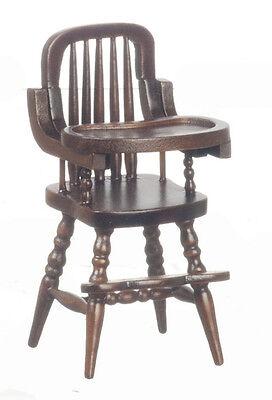 Dollhouse Miniature High Chair Walnut Baby CLA10385 1:12 Scale