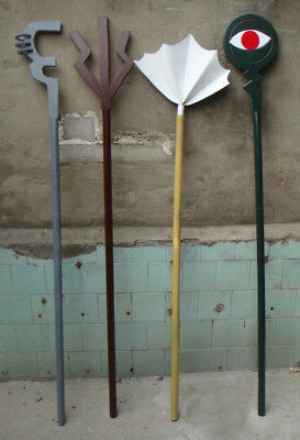 Halloween Props For Sale (Handmade Fairy Tail Mystogan Magic Staves Cosplay Props for)