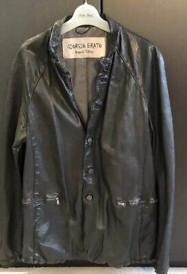 Mens GIORGIO BRATO Leather Jacket