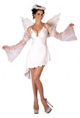 Engel Weiblich Kostüm Wings Halo Geburt Halloween 86576 ()