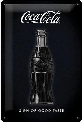 Coca-Cola Werbung Schild Flasche Merchandise Blech Poster Reklameschild * 1573