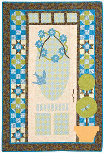 Moda porch door quilt pattern 41 x 61 by coach house for Red door design quilts