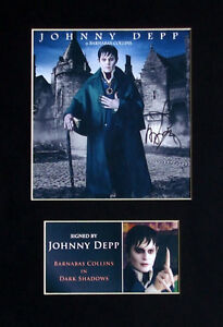 Johnny-Depp-Dark-Shadows-Signed-Mounted-Photo-Display-Autograph-5