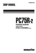 Komatsu Excavator PC75-2 Shop, Service, Repair Manual