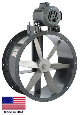 Tube Axial Duct Fan - Belt Drive - 30 - 1 Hp - 230460v - 3 Phase - 9897 Cfm
