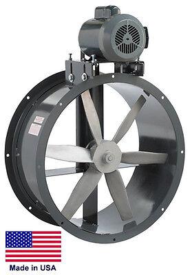Tube Axial Duct Fan - Belt Drive - 18 - 12 Hp - 230460v - 3 Phase - 3850 Cfm