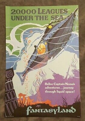 20000 Leagues Under the Sea Attraction Poster - Walt Disney World - 18x12 Inch