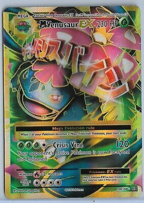 Pokemon - M Mega Venusaur EX - Evolutions 100/108 - Holo Ultra Rare - light bend